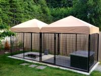 Used Dog Kennel and Custom Dog House (Together worth