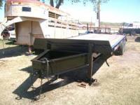 Used Dual Tandem Bumper Pull Trailer, Black, 10,000lb
