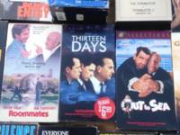 DVD movies VHS movies 500 titles PRICE from $.50 TO