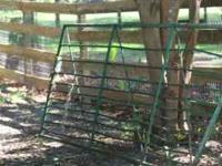 Used farm gate for sale. Made of steel and painted