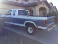 Selling my 1982 ford f250 , asking price is 1,000. This