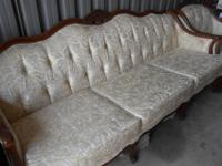 Antique Victorian style Couch and matching Chair.