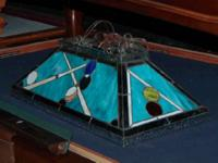 We are marketing this USED Glass Pool Design Billiard