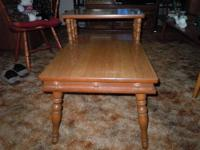 This is a set of 2 Maple End Tables or sometimes called