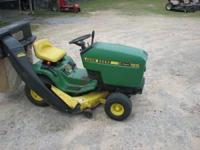 I am selling a used John Deere 165 lawn mower. It is