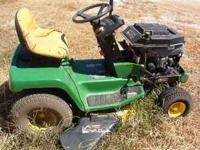 used John Deere lawn tractor, runs , needs hood and