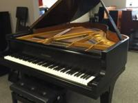 Full of character and charm, this ebony satin 6' Kawai