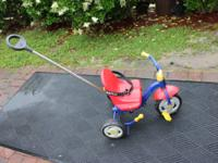 Used Kettler Happy Air Tricycle in Red, Blue and Yellow