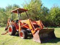 used KUBOTA TLB 35 tractor loader backhoe, great for