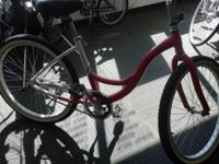 Utilized Ladies Jamis Earth Cruiser Bicycle. Red/white