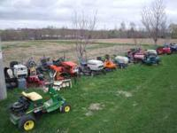 used lawn mowers, tillers used parts and or service