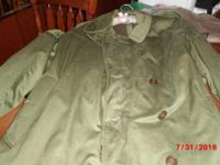 Men's long army trench coats Have three, one with belt