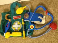 With a stocked doctor's bag, this Fisher-Price medical
