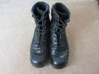 "Pair of used mens boots made by bates, 8"" height size"