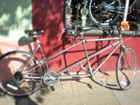 We have this remarkable slightly 10 speed tandem bike