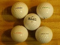 A majority of the Nike golf balls are in excellent