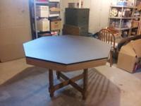 This is a used poker table in excellent condition. It