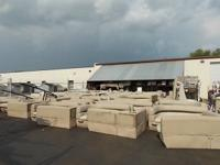 We have several pieces of used pontoon furniture for
