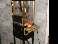 Old-fashioned popcorn popper, less than two years old,