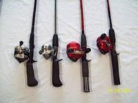 Used rod and reel combos. Rods and Reels are in great