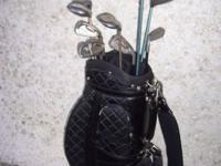 USED SET OF LADIES CALLAWAY AND PING GOLF CLUBS WITH