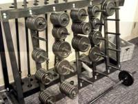 Amazing used set! Standard weight set with bars, plate