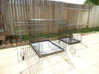 Used Steel Dog Cages (Large Size) $40.00 Used Steel Dog