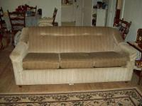 Gently used sofa is in good condition. No rips or