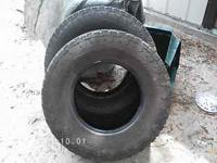 I HAVE FOR SALE TWO USED TIRES. THEIR SIZES ARE