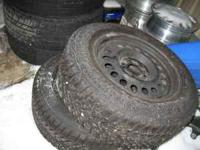 TIRES 2 Goodyear Ultra-grip tires in good condition,