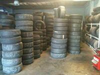WE SELL NEW AND USED TIRES ALL SIZES 13, 14, 15, 16,