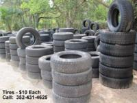 TIRES! TIRES! TIRES! Come and get 'em ... This weekend