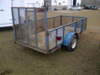 5 x 10 landscape trailer / rear ramp gate / tongue jack