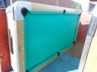 USED 7' VALLEY COIN OP POOL TABLE   CLOTH IN GOOD