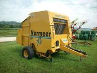 USED, VERMEER ROUND BALER - 605 XL PLUS - 2003 MODEL