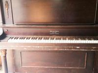 The Piano is a Weser Bros, and is used. It has