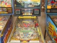 This is a used Williams Taxi pinball machine that has