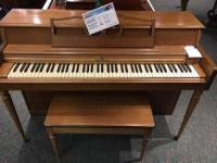 Used Wurlitzer spinet piano, serial #11293758 This