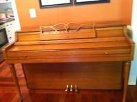 Good Wurlitzer piano, no stool. great condition, no