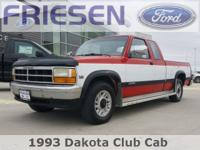 Recent Arrival! Red 1993 Dodge Dakota Base Odometer is