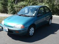 1996 Geo Metro Green FWD 1.3L I4 EFI 3-Speed