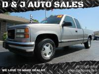 PRICE REDUCED! 1998 GMC Sierra SLE Extended Cab, 2WD,