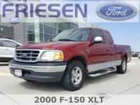 Red 2000 Ford F-150 XLT Clean CARFAX. Priced below KBB
