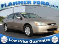 2004 Honda Accord Tan **CLEAN AUTOCHECK REPORT**.a SAll