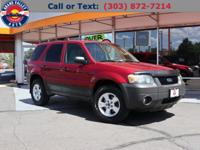 Our 2005 Escape XLT is offered in Redfire Metallic!