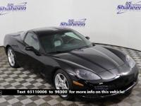 Clean CARFAX. Black 2006 Chevrolet Corvette RWD 6-Speed