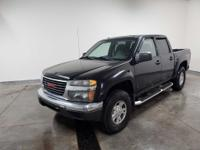This 2007 Onyx Black GMC Canyon SLE2 RWD is well