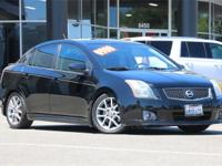 Clean CARFAX. Super Black 2007 Nissan Sentra SE-R Spec