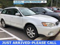 2007 Subaru Outback 2.5i Satin White Pearl **Leather**,