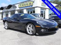 This black 2010 Chevrolet Corvette 1LT has RWD, 6.2L V8